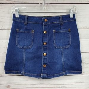 Limited Too front button down Jean skirt